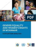 Gender Equality Womens Rights Myanmar