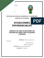 Ecuacioenes Diferenciales Economia Cerrada