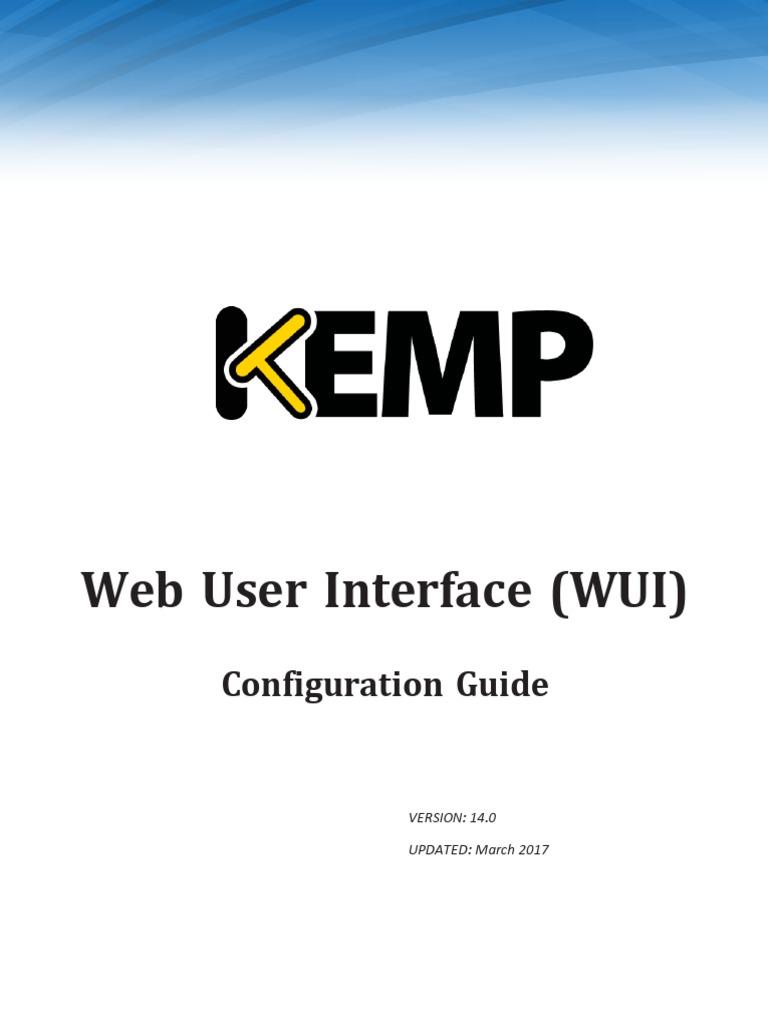 Kemp configuration guide web user interface wui http cookie kemp configuration guide web user interface wui http cookie hypertext transfer protocol kristyandbryce Gallery