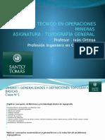 Unidad i Generalidades y Definiciones Topográficas Básicas