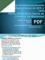 Recopilación de Demostraciones de Configuraciones de BJTs y