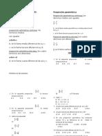 Proporciones Aritmetica Primer Año de Secundaria