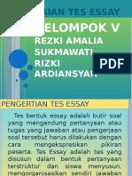 pengertian tes essay terstruktur