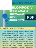 Penilaian Tes Essay