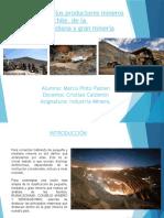 Clasificación de La Mineria Chilena