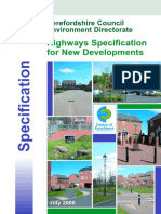 Highways Specification for New Developments