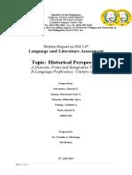 Language and Literature Assessment