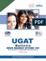 Under Graduate Aptitude Test Notification (UGAT) 2017