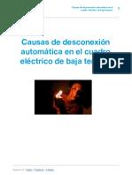 Simon - Causas de Desconexión Automática en El Cuadro Eléctrico de Baja Tensión-1