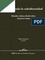 Repensando La Subalternidad Miradas Criticas Desde-sobre America Latina
