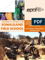 Brochure Second Somaliland Field School 2017