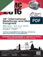Programme Book-IMMC2016