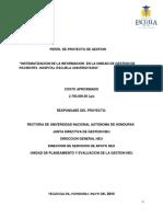 Perfil de Proyecto Gestion de Pacientes Admisiones