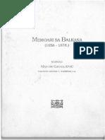 Memoari Sa Balkana - Martin Gjurgjevic
