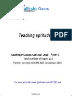 NET SET Teaching Aptitude