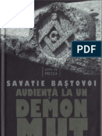 Savatie Baştovoi - Audienţă la un demon mut