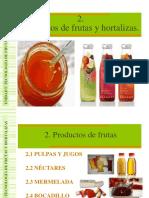 1.2 Productos de Frutas