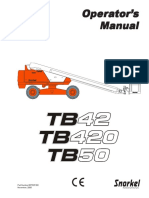 MAN LIFT ML-001 TB42manual-Operator