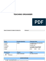 Teaching Organiser Chapter 7