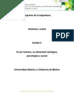 Unidad2.Elserhumanosudimensionbiologiaysocial