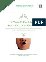 Evaluación Del Proceso Fonológico Del Lenguaje Oral Trabajo Final