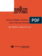 Human Rights Serious Crime and Criminal Procedure