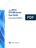 Cambium PTP 800 Series 06-02 User Guide