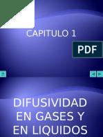 Difusividad en Gases y en Liquidos