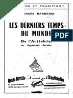 Barbarin Georges - L'Antéchrist