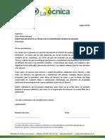 Carta de Cesión de Derechos