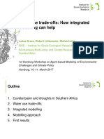 Water use trade-offs