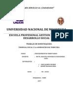 Monografia de Tribunal Fiscal y Actos Adminstrativos