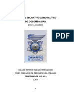 Manual y Contenido Tematico de Drones
