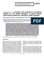 Evaluation of harvesting and postharvest processing method on raw quality attributes of green Arabica Coffee beans produced in Hararghe, eastern Ethiopia