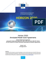 Horizon 2020  Annotated Model Grant Agreements