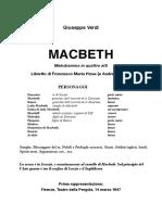 Machbeth Libretto