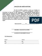 Declaração de União Estável Maxwell Sousa de Oliveira