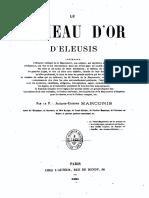 Marconis Jacques-Etienne - Le Rameau d'or d'Eleusis