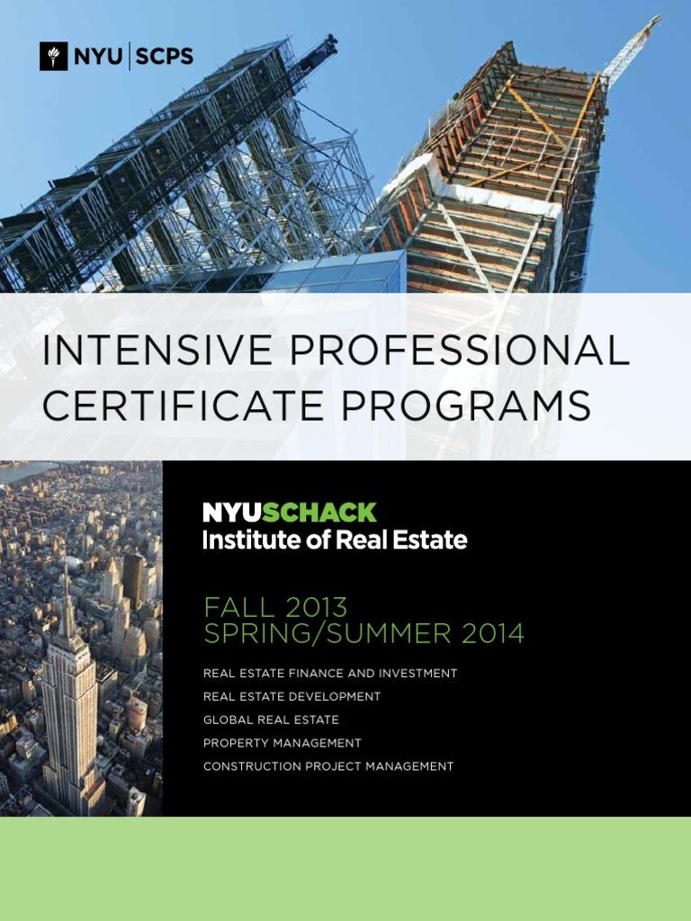 Nyu Real Estate Valuation Finance Net Present Value