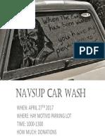 Navsup Car Wash Apr 2017