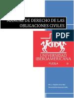 Manual de Derecho de Las Obligaciones Civiles - Alejandra Garcia Téllez