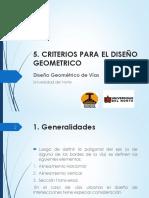 5. Criterios Diseño Geometrico