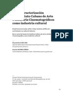 Breve caracterización del Instituto Cubano de Arte e Industria Cinematográficos como industria cultural