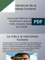 Características de La Naturaleza Humana(1)