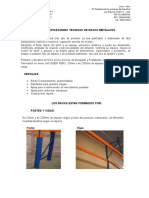 Especificaciones Tecnicas de Racks Metalicos