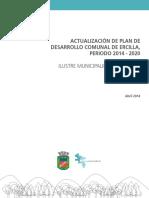 Actualización de Plan de Desarrollo Comunal de Ercilla, Periodo 2014 - 2020