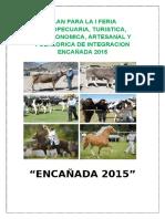 Plan de Feria Agropecuaria Encañ. 2015