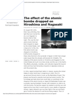 the effect of the atomic bombs dropped on hiroshima and nagasaki   washington state university