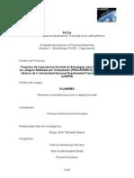Proyecto Capacitacion Docente E-LIDRES Educacion Virtual Metodologia PACIE FATLA