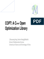 COPT(A-C++-Open-Optimization-Library)-Zhouwang-YangRuimin-Wang